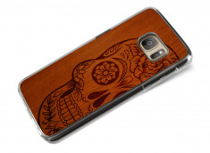 Coque Samsung Galaxy S7 Wooden Skull