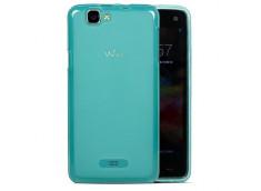 Coque Wiko Rainbow Silicone Case Bleu