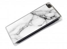Coque Huawei P8 Lite Effet Marbre- Blanc