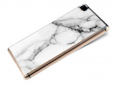 Coque Huawei P8 Effet Marbre- Blanc