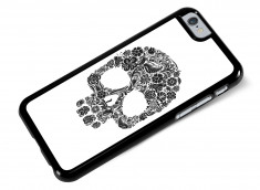 Coque iPhone 6/6S Skull Flower-Blanc
