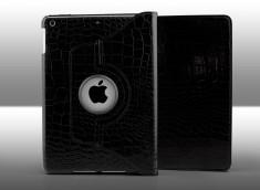 Etui iPad 2017 Spin Croco Gloss-Noir