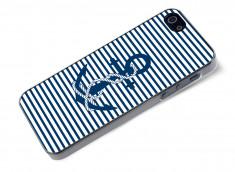 Coque iPhone 5/5S Ancre et Marinière