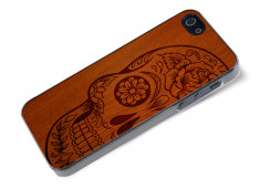 Coque iPhone 5/5S Skull Wood