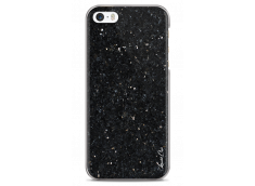 Coque iPhone 5C Black Diamond Marble
