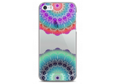 Coque iPhone 5/5s/SE Cercles Multicolor Galaxy Mandala
