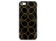 Coque iPhone 5C Black & Gold geometric marble