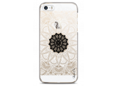 Coque iPhone 5C Black Flower Mandala