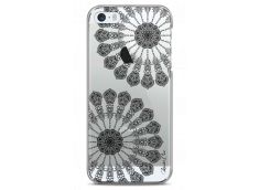 Coque iPhone 5C Black Stars Mandala