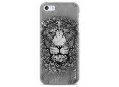 Coque iPhone 5C Black & White Lion Mandala