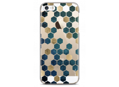 Coque iPhone 5C Blue & Gold Cubic
