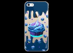 Coque iPhone 5C Blue Chocolate muffins pattern