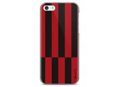 Coque iPhone 5C Red & Brown geometric forms