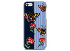 Coque iPhone 5C Butterflies and flowers on geometric forms