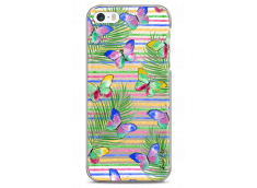 Coque iPhone 5C Multicolor watercolor butterflies
