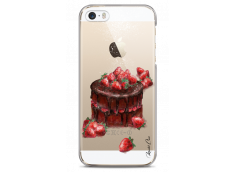 Coque iPhone 5/5s/SE Chocolate and strawberries cake