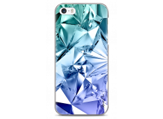 Coque iPhone 5/5s/SE Blue Cristal geometric design
