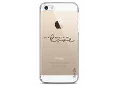 Coque iPhone 5C Do all things with love