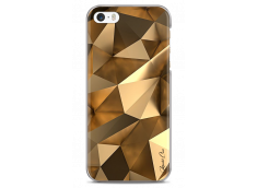 Coque iPhone 5C Fashion gold geometric forms