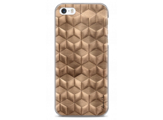 Coque iPhone 5C Gold deco geometric