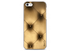 Coque iPhone 5C Soft gold geometric design