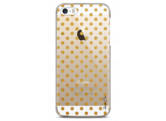 Coque iPhone 5/5s/SE Gold glitter dots