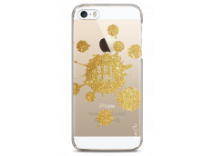 Coque iPhone 5C Gold Glitter - Girl Power