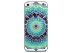 Coque iPhone 5/5s/SE Green Galaxy Mandala