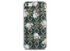 Coque iPhone 5C Green aztec with flowers