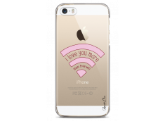 Coque iPhone 5/5s/SE I love you more than wifi