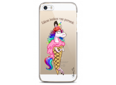 Coque iPhone 5C Cartoon ice cream unicorn