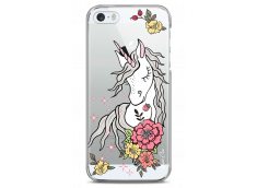 Coque iPhone 5/5s/SE Licorne & Flowers design