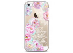 Coque iPhone 5C Mandala & Pink Flowers