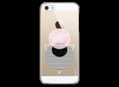 Coque iPhone 5C Cercles Géométriques en marbre