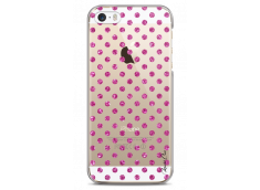 Coque iPhone 5C Pink glitter dots