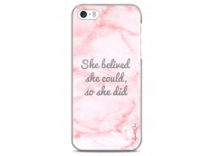 Coque iPhone 5C Pink Message Marble