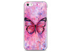 Coque iPhone 5C Artistic design watercolor butterfly