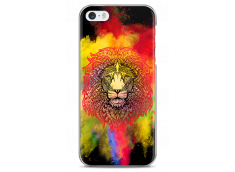 Coque iPhone 5C Power Color Lion Mandala