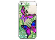 Coque iPhone 5C Fuchsia watercolor butterflies