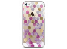 Coque iPhone 5C Purple Cubic