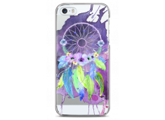 Coque iPhone 5C Purple watercolor floral dreamcatcher