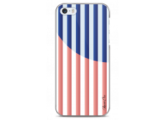 Coque iPhone 5C Red & Blue geometric forms