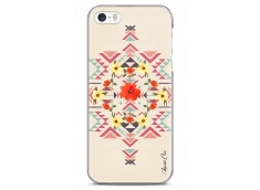 Coque iPhone 5C Red aztec with flowers