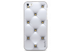 Coque iPhone 5C Silver & gold dots pattern