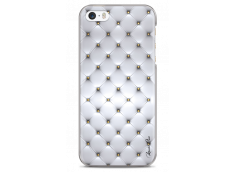 Coque iPhone 5C Soft silver & glitter pattern