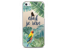 Coque iPhone 5/5s/SE Tropical watercolor design Chut je rêve