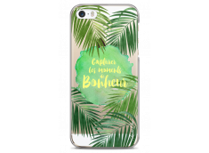 Coque iPhone 5C Tropical watercolor design Bonheur