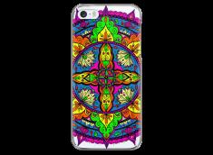 Coque iPhone 5C Vitrail Mandala