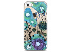 Coque iPhone 5C Water blue drawing flowers