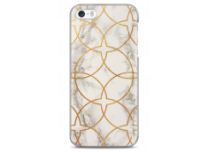 Coque iPhone 5/5s/SE White & Gold geometric marble